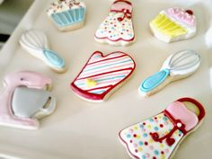 Decorated Baking Party Cookies