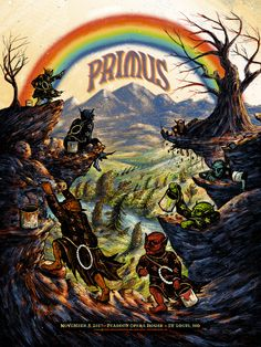 Primus Poster St Louis 2017 by Zeb Love Tour Posters, Band Posters, Music Posters, Music Images, Music Pics, Music Pictures, Concert Posters, Gig Poster, Music Artwork