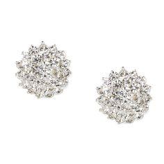 Rhinestone Flower Cluster Stud Earrings | Icing