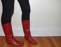 VTG Cherry Red Leather 80s Joan Jett Glam Punk by SmokeSaltBone, $15.00