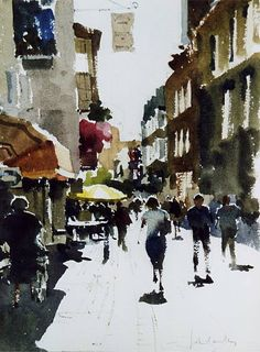 John Yardley (b. 1933, UK) watercolour.
