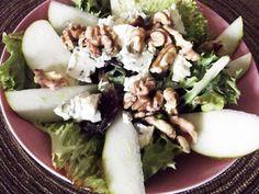 {Edith genießt! Rezepte für's Leben ...}: Birnensalat mit gerösteten Walnüssen Feta, Potato Salad, Dairy, Potatoes, Cheese, Chicken, Ethnic Recipes, Rye Bread, Mixed Green Salads