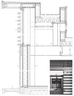 Residential structures brick wall drawing pinterest for Bow window construction detail