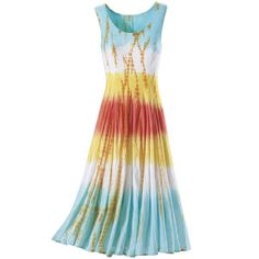 Gotta have this dress - so colorful & fun (from Pyramid Collection) - it's called the Sherbet Punch Dress (very appropriate)