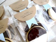 """Must get me some large circle labels for the next cookie-fairy visit. """"Packaging Baked Goods in Your Kitchen"""" from Jenny Steffens Hobick"""