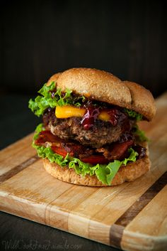 Barbecue Bacon Cheeseburger - Now That's a Burger! by WillCookForFriends, via Flickr