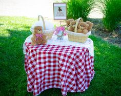 Adorable Teddy Bear Picnic Party! on http://pizzazzerie.com