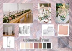 Optimistic Pink: According to the fashion industry this will be one of the colors for weddings in 2021. Enjoy! Want to know more about wedding planning... Visit our website - www.ectaint.com Wedding Trends, Industrial Style, Wedding Colors, Wedding Planning, Table Decorations, Weddings, Website, Pink, Home Decor