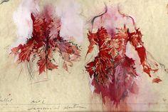 Costume designs for Cinderella production Birmingham Royal Ballet