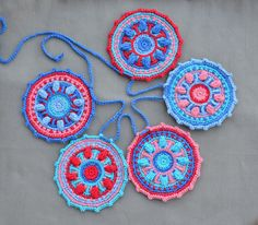 Crochet Garland PATTERN mandala garland by LillaBjornCrochet