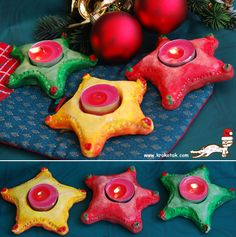 Playdough tea lights- diyas