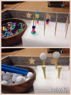 """Fine motor balancing & threading from Stimulating Learning with Rachel ("""",)"""