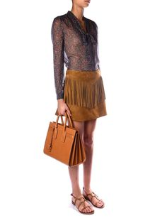 Fringed suede mini skirt | Saint Laurent | MATCHESFASHION.COM US