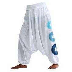 Pantalon bouffant blanc, coton