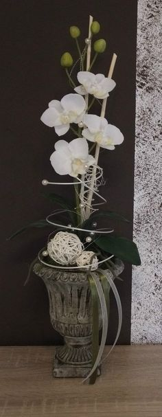 Orchideengesteck, Gesteck in weiß | eBay