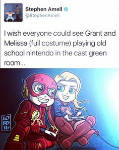 OMG Supergirl and Flash play video games!