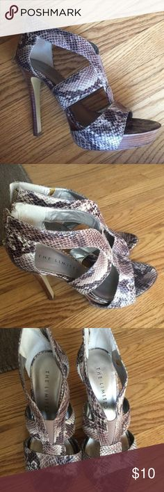 The limited heels Faux snakeskin heels. Lightly worn. Great condition! the limited Shoes Heels
