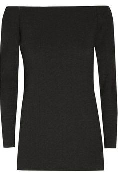 Tibi Off-the-shoulder stretch-crepe top   £405