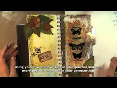 Art Journaling 101 - Episode 2, Part 2 using Tim Holtz in French with English subtitles. ***