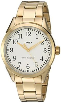 Timex Mens TW2R10000 Briarwood Terrace GoldTone Stainless Steel Bracelet  Watch   Check out this great product. Rozsdamentes Acél Karóra a55a7e175a