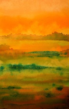 The Painted Prism: WATERCOLOR WORKSHOP: Painting an Abstract Landscape