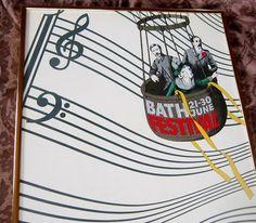Vintage Poster Bath Music Festival 1976 Bath England by VistaChick
