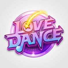 Check out the latest craze of simulation dance video games in your mobile device. Be active and meet friends and find your boyfriend and girlfriend Bg Design, Game Logo Design, Typo Design, Word Design, Banner Design, Game Font, Game Ui, Logo Inspiration, Video Game Logos