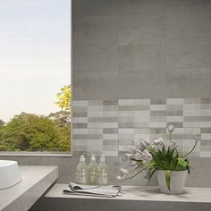 If you're looking for patterned wall tiles for bathrooms or kitchens the Etna range is a stylish modern option. The matching mosaic effect tiles are ideal for stylish feature walls.