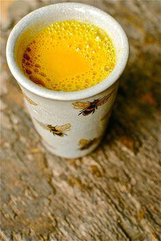 """Drink your medicine! Warm Spiced Turmeric """"Milk"""" // @Kellie Dyne Dyne anderson"""