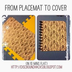 Discbound Hacks: How to create a DIY discbound cover from a Dollar Store placemat