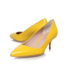 tiarella yellow mid heel court shoes from Kurt Geiger London