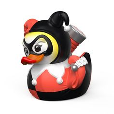 Buy Tubbz: Harley Quinn - Cosplay Duck at Mighty Ape NZ. Tubbz: DC Comics – Cosplay Duck (Harley Quinn) The term Cosplay is a blend of the words Costume & Play, a performance art in which Humans…I me. Harley Quinn, Robin, Joker, Batman, Gotham, Duck Memes, Culture Pop, Cosplay, Rubber Duck