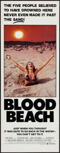 """Blood Beach (Jerry Gross, 1981). Inserts (10) (14"""" X 36""""). Horror."""