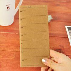 1 Pic Korean Daily Weekly Agenda Planner Organizer Agenda Notebooks And Journals Book School Office Supplies Accessories #shoes, #jewelry, #women, #men, #hats
