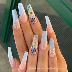 In search for some nail designs and ideas for your nails? Here's our set of must-try coffin acrylic nails for modern women. Acrylic Nails Natural, Summer Acrylic Nails, Best Acrylic Nails, Acrylic Nail Designs, Spring Nails, Summer Nails, Acrylic Nail Art, Unique Nail Designs, Different Nail Designs