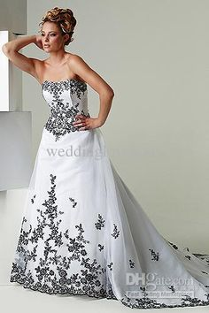 Wholesale A-Line Wedding Dresses - Buy 2013 Hot Selling Exquisite/Charming A-Line Strapless Court Train Zipper/Lace Up Applique Organza Wedding Dresses, $102.0 | DHgate