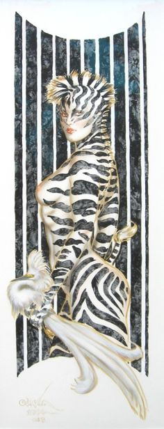 Zebra Lady Comic Art