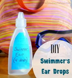 These homemade swimmers ear drops were recommended to me by our child's ear…
