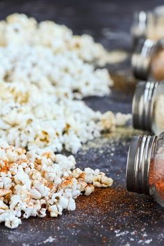 These simple seasonings will take your popcorn to the next level. With two sweet and two savory options, there's a seasoning everyone will love. Popcorn Recipes, Snack Recipes, Cooking Recipes, Homemade Popcorn Seasoning, Peanut Butter Popcorn, Popcorn Bar, Special Recipes, Spice Mixes, Easy Snacks