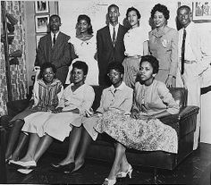 Little Rock Nine with Daisy Bates (top row, second from right).