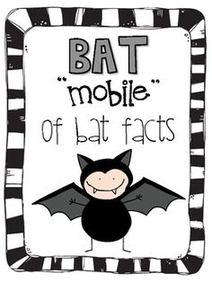 Bat Mobile of Bat Facts - Grande Mammals School Holidays, Holidays Halloween, School Fun, Halloween Fun, School Ideas, Halloween Activities, Autumn Activities, Halloween Themes, Bat Facts