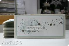 Weihnachtskarten mit neuen Stempeln…