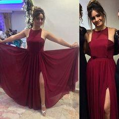 Charming Prom Dress,Chiffon Prom Dress,Halter Prom Dress,Brief Evening Dress P618