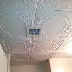 smallfineprint installing ceiling tiles for cheap and easy but awesome look/quality