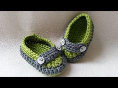 Crochet Baby Loafer - Slipper - Moccasin - Part 1 - Sole by BerlinCrochet - YouTube