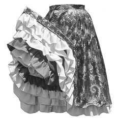 - 1840 - Can-Can Skirt Pattern. - 1840 - Can-Can Skirt. This skirt is the classic can-can skirt of the Calf length, it is a full circle skirt, with a lining loaded with ruffles. Center back closure. This skirt is suitable for dance hall and saloon wear. Victorian Costume, Steampunk Costume, Burlesque, Saloon Girl Costumes, Skirt Patterns Sewing, Skirt Sewing, Costume Patterns, Saloon Girls, The Lone Ranger