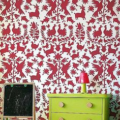 Otomi Stencil Pattern - Sturdy and reusable wall stencils for easy DIY decor!  Use with fabric paints