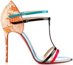 shoes - Christian Louboutin Spring/Summer get your colour shoes Hazte ya con tus sandalias d colores para este verano ❤