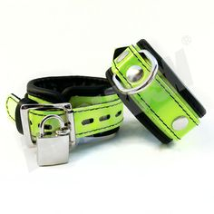 """These high quality hand crafted restraints cuffs ensure that you or your partner are under control! These premium genuine leather restraints are 2 inches wide and reinforced with three layers of leather.    Features:    1) Ideal to control and restraint!  2) All studs are covered by leather to protect your skin/body.  3) Premium D rings and fittings.  4) Use a padlock for extra security. (FREE TWO PADLOCKS)  5) Measures approx. 12.5' (32cm"""") total length and 2' (5cm"""") in width.  6) Fits…"""