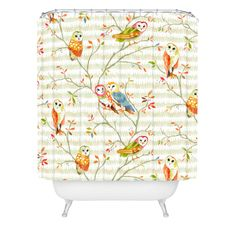 Betsy Olmsted Owl Tree 1 Shower Curtain | DENY Designs Home Accessories